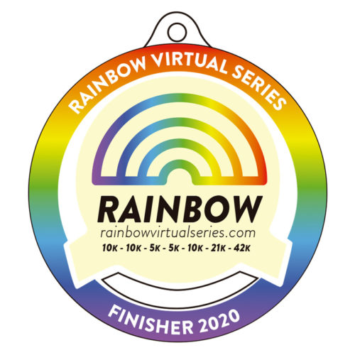 medalla finisher rainbow